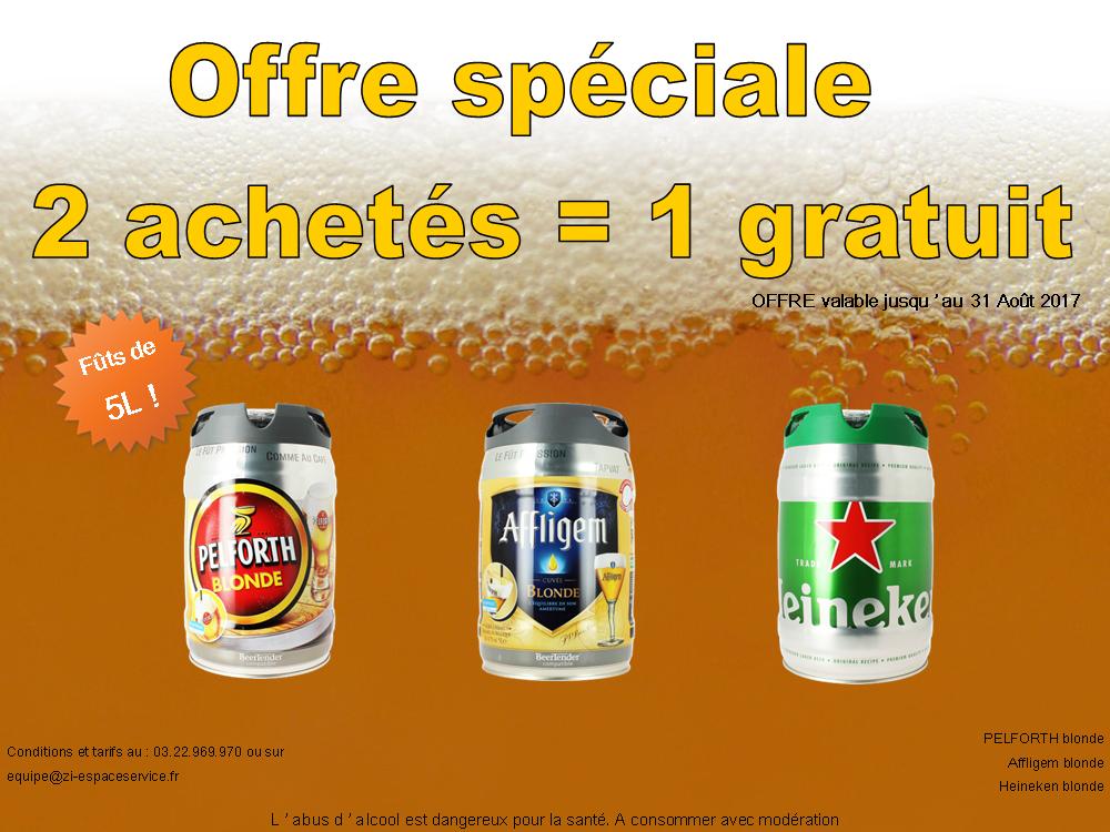 offre spéciale bière 2017